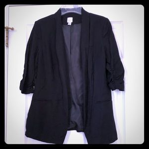 Lauren Conrad Cinched Sleeved tailored blazer